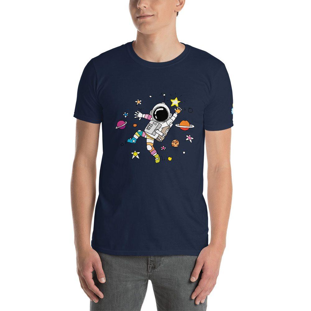 Dancing Astronaut Short-Sleeve Unisex T-Shirt