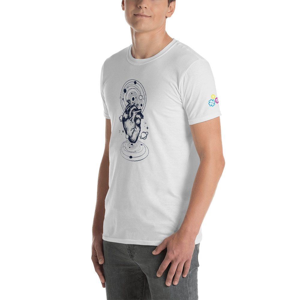 Heart Planets Short-Sleeve Unisex T-Shirt