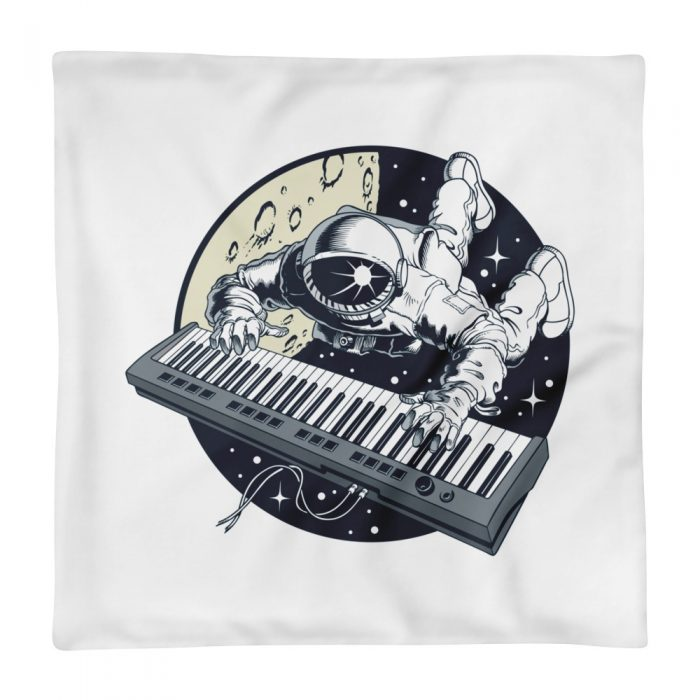 Astronaut Playing Keyboard Pillow Case only