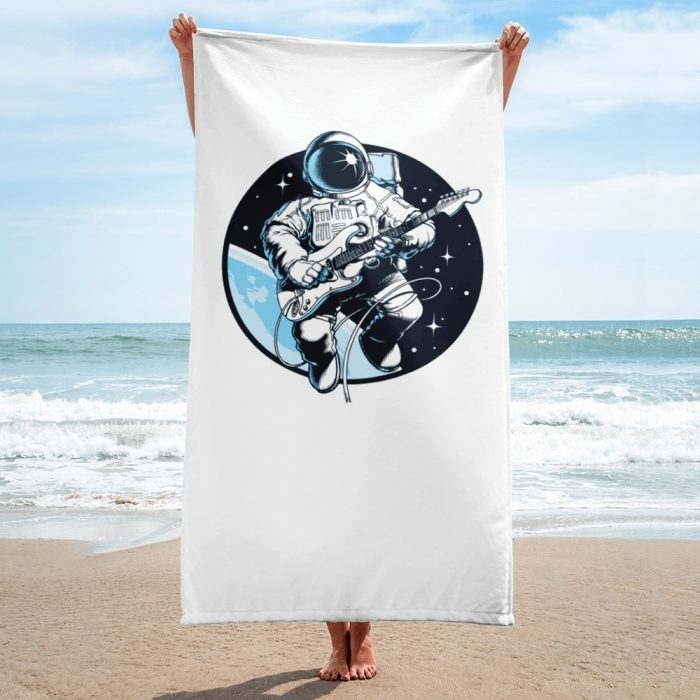Astronaut Playing Guitar Towel