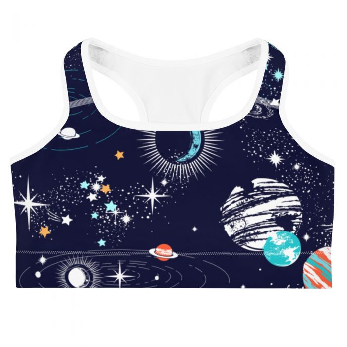 Space Pattern Sports bra