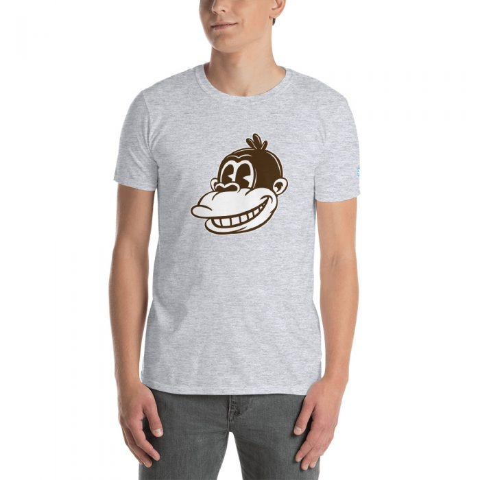 Vintage Cartoon Monkey Short-Sleeve Unisex T-Shirt
