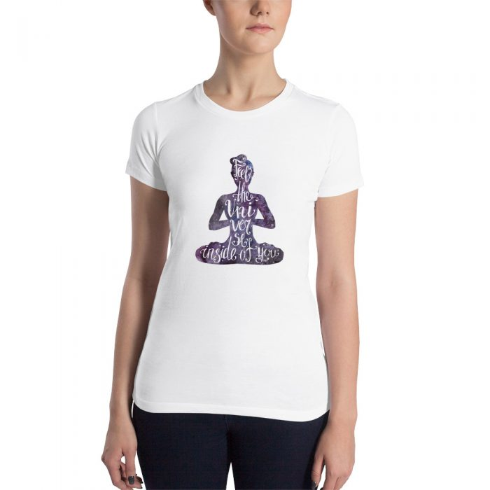 Feel the Universe Women's Slim Fit T-Shirt