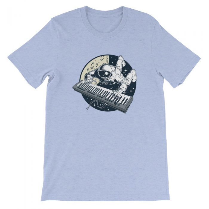 Astronaut Keyboard Short-Sleeve Unisex T-Shirt