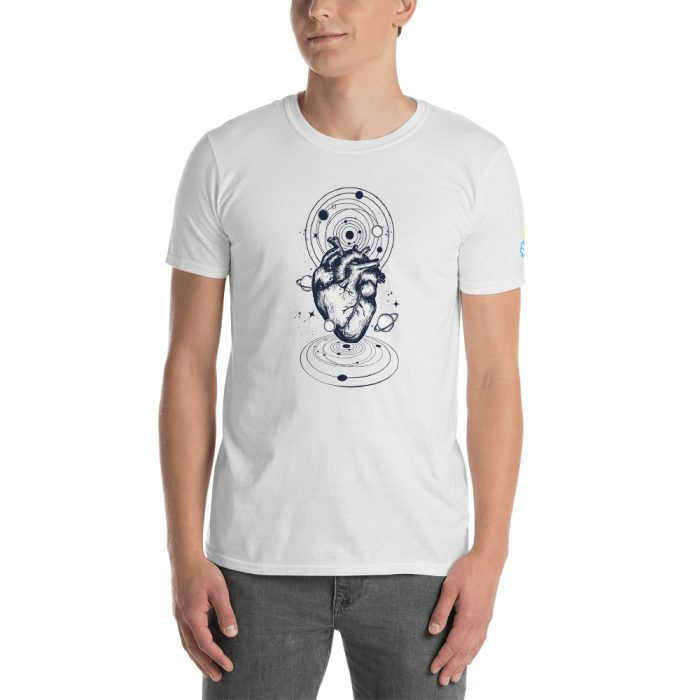 Heart Planets Short-Sleeve Unisex T-Shirt