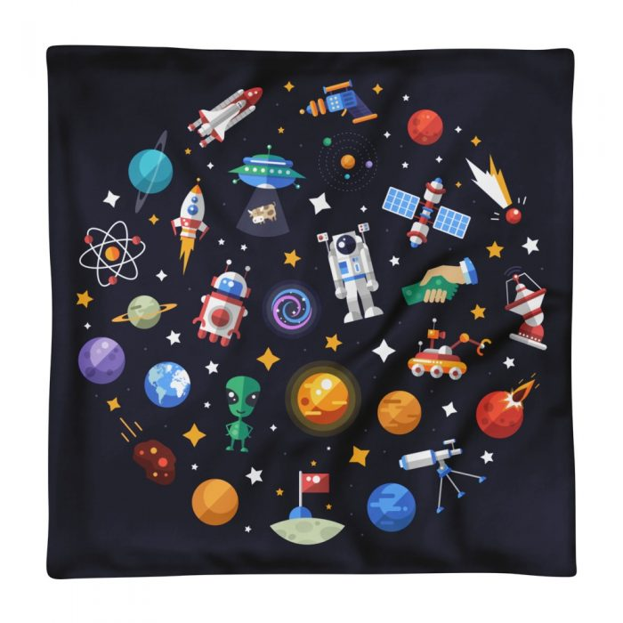 Space Symbols Pillow Case only