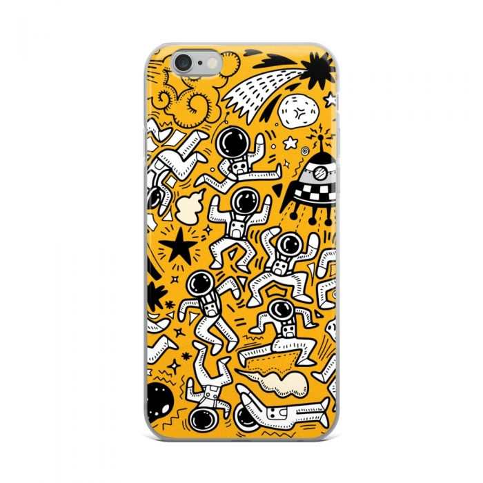 Yellow Space Pattern iPhone Case