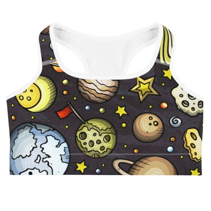 Planets Pattern Sports bra
