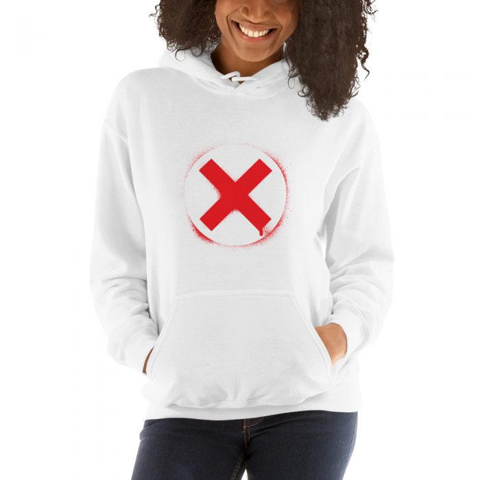 Spray-painted Sign Hooded Sweatshirt