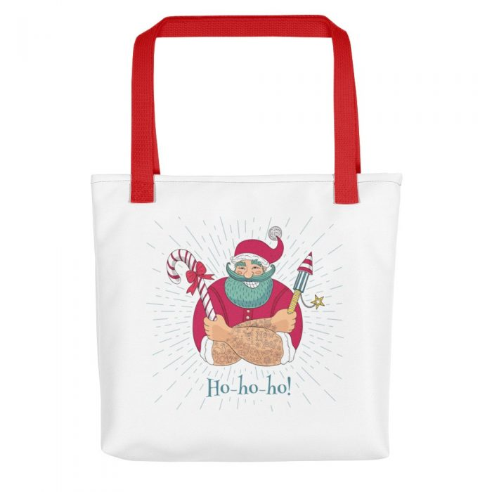Santa with Fireworks Tote bag