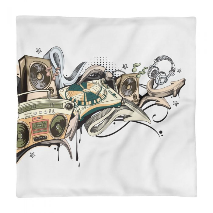Music Graffiti Pillow Case only