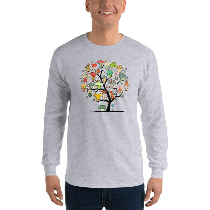Mushroom Tree Long Sleeve T-Shirt