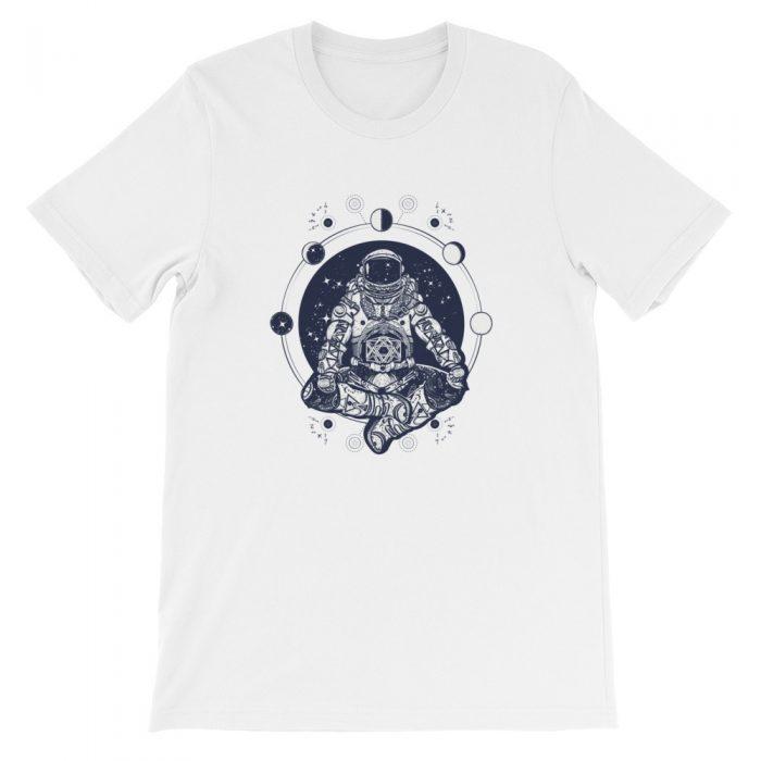Astronaut Meditating Short-Sleeve Unisex T-Shirt