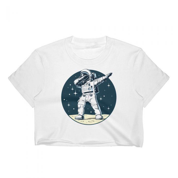 Dancing Astronaut Women's Crop Top