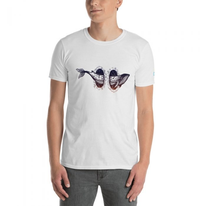 Space Whale Short-Sleeve Unisex T-Shirt