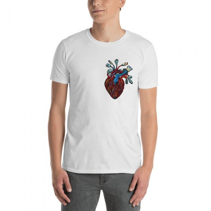 Heart with Wires Short-Sleeve Unisex T-Shirt