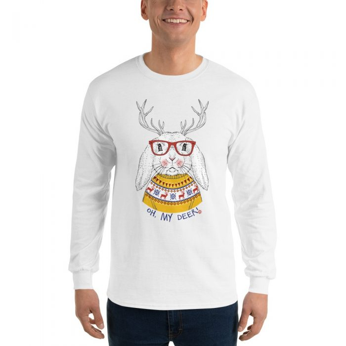 Oh My Deer Christmas Bunny Long Sleeve T-Shirt