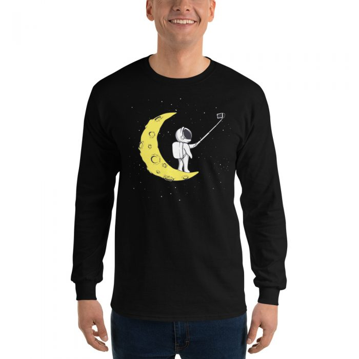 Moon Selfie Long Sleeve T-Shirt