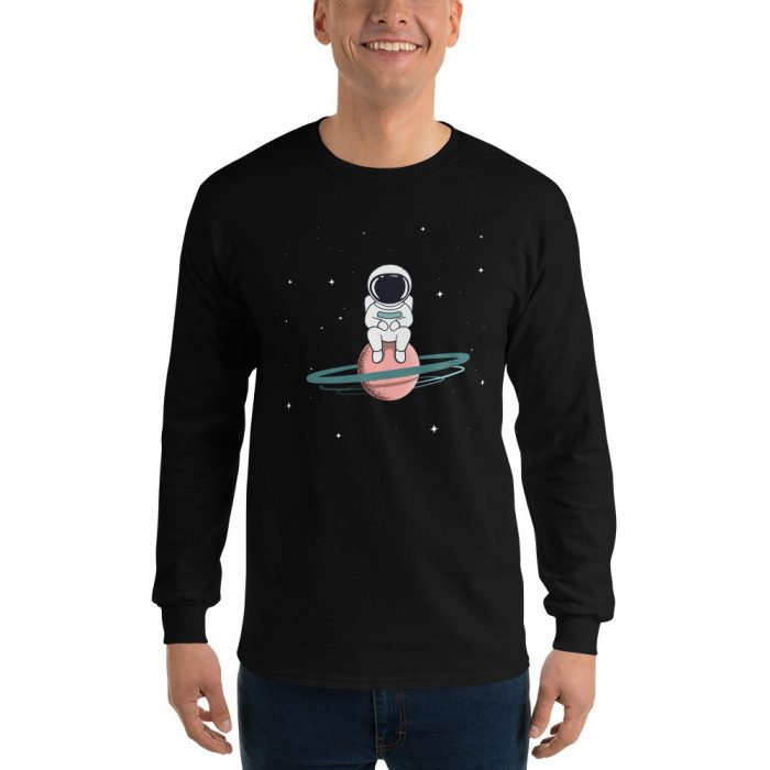 Bored Astronaut Long Sleeve T-Shirt