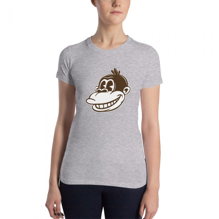 Vintage Cartoon Monkey Women's Slim Fit T-Shirt