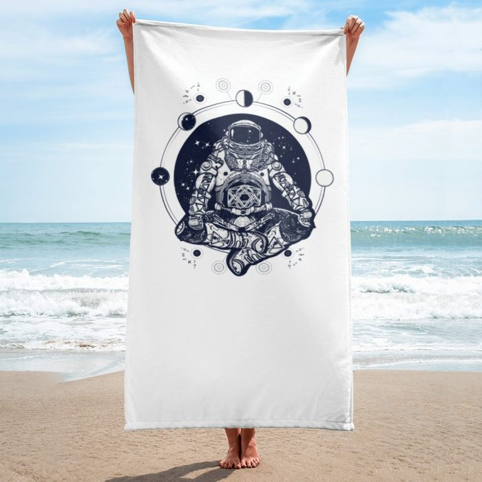 Meditating Astronaut Towel