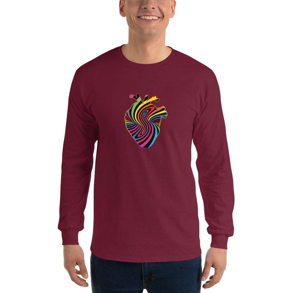 Rainbow Heart Long Sleeve T-Shirt