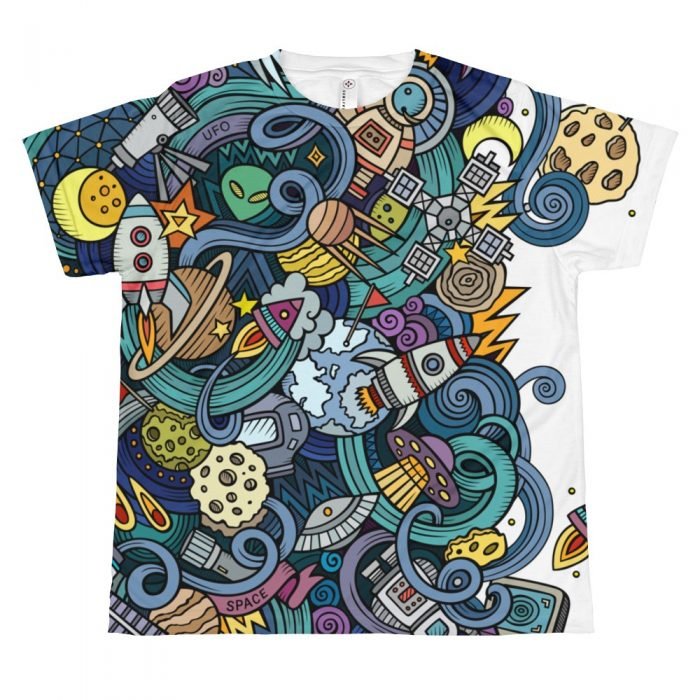 Cartoon Space Pattern T-shirt