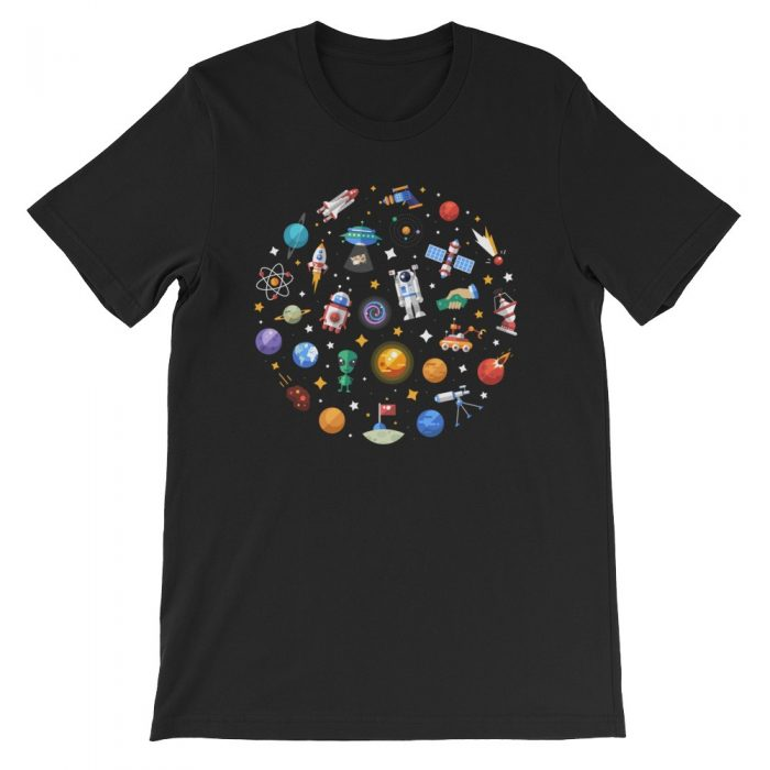 Space Pattern Short-Sleeve Unisex T-Shirt