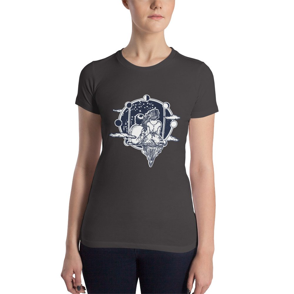 Swinging in Space Women's Slim Fit T-Shirt