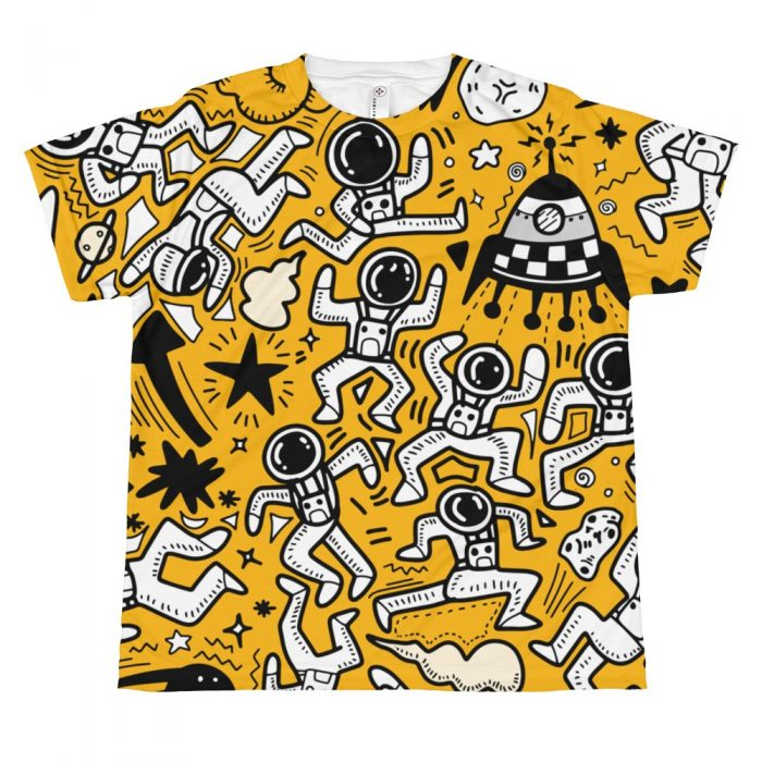 Yellow Space Pattern T-shirt