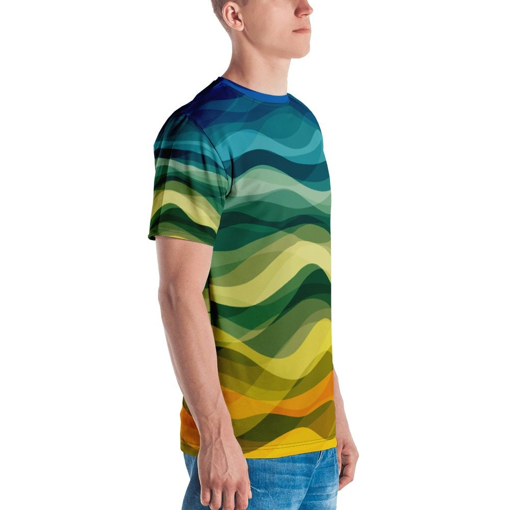 Color Waves Men's T-shirt