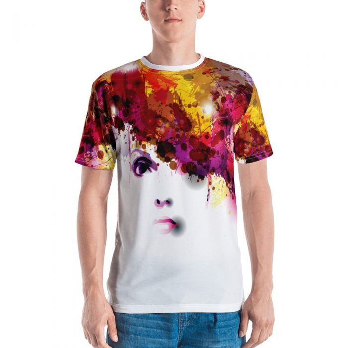Watercolor Face Men's T-shirt