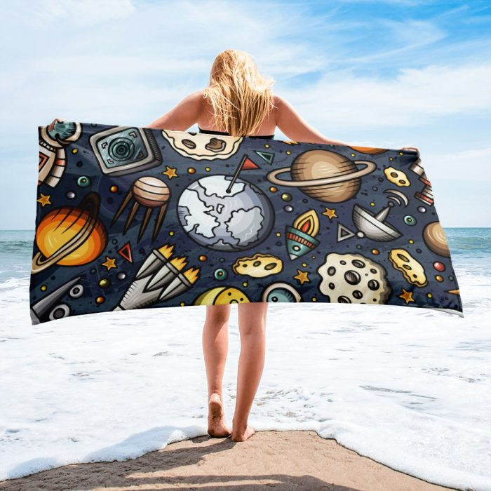 Space Pattern Towel