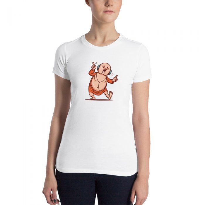 Dancing Monk Women's Slim Fit T-Shirt