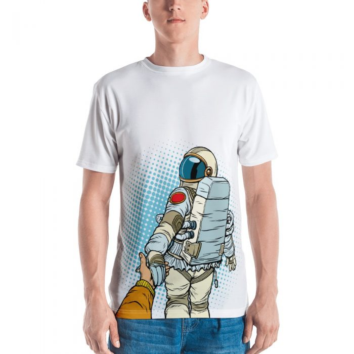 Follow Me Astronaut Cartoon Men's T-shirt