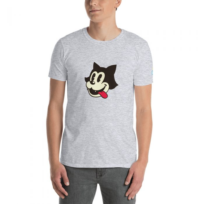 Vintage Cartoon Cat Short-Sleeve Unisex T-Shirt