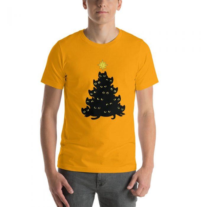 Cats Christmas Tree Short-Sleeve Unisex T-Shirt