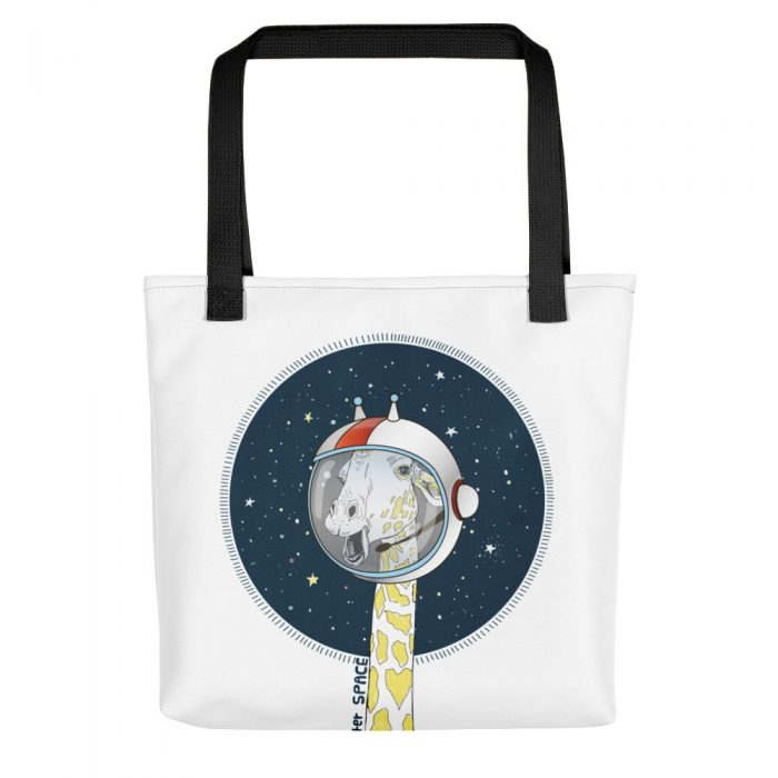 Space Giraffe Tote bag