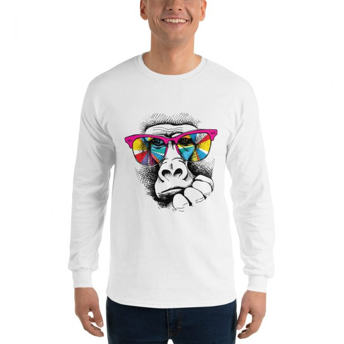 Thoughtful Chimp Long Sleeve T-Shirt