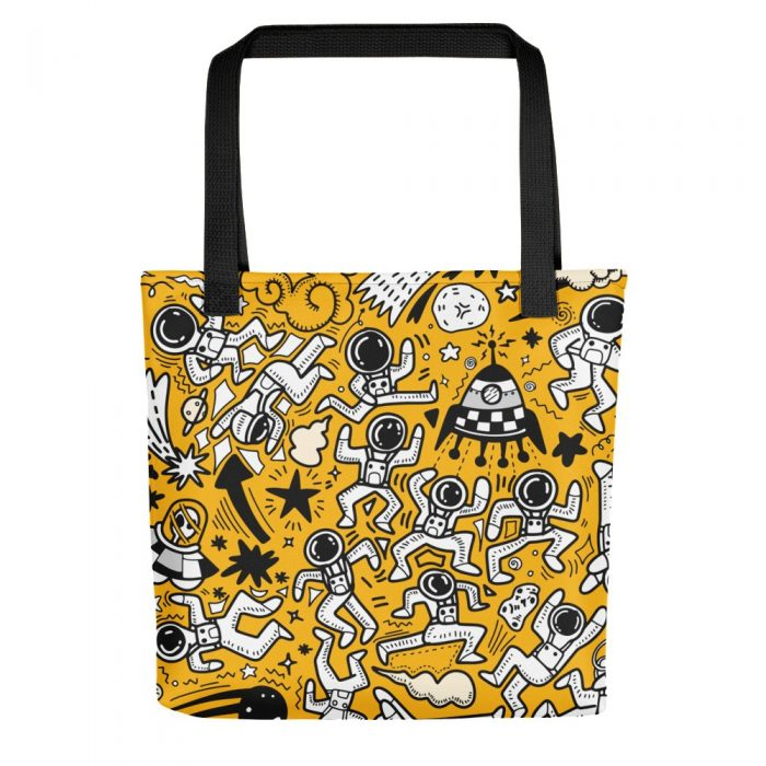 Yellow Space Pattern Tote bag