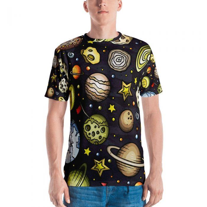 Planets Pattern Men's T-shirt