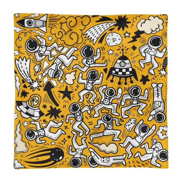 Yellow Space Pattern Pillow Case only
