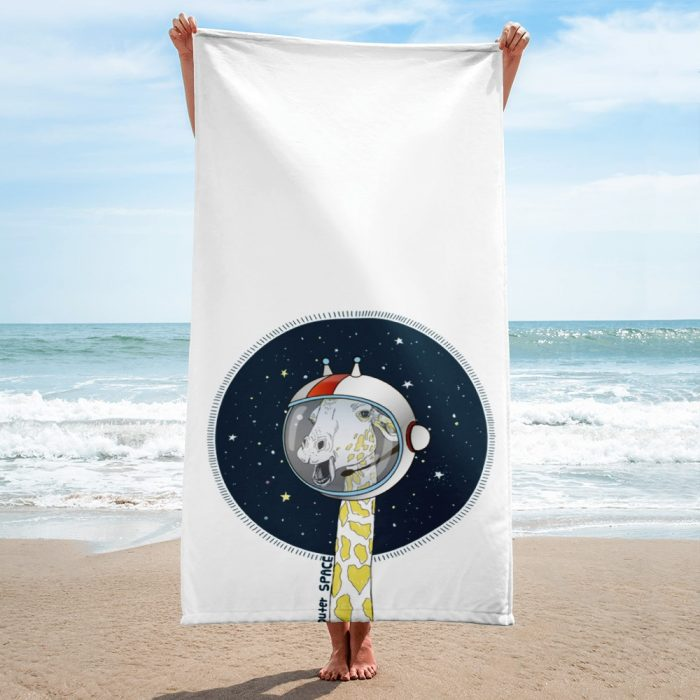Space Giraffe Towel