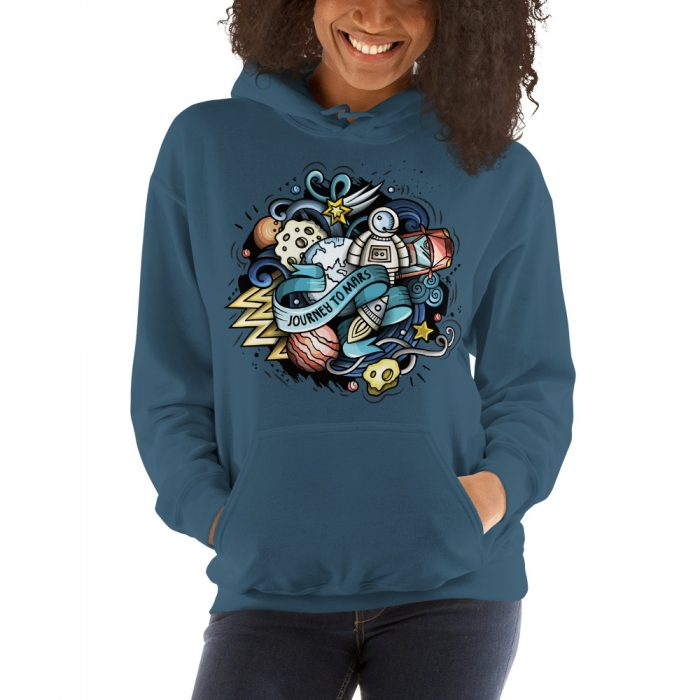Journey to Mars Hooded Sweatshirt