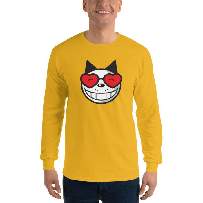 Retro Cat Long Sleeve T-Shirt
