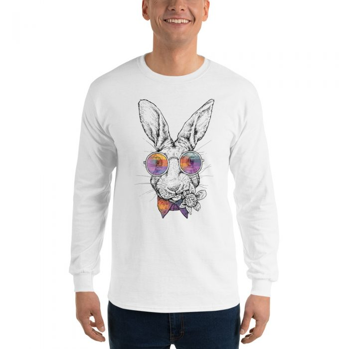 Rabbit Portrait Long Sleeve T-Shirt