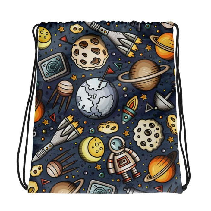Space Pattern Drawstring bag