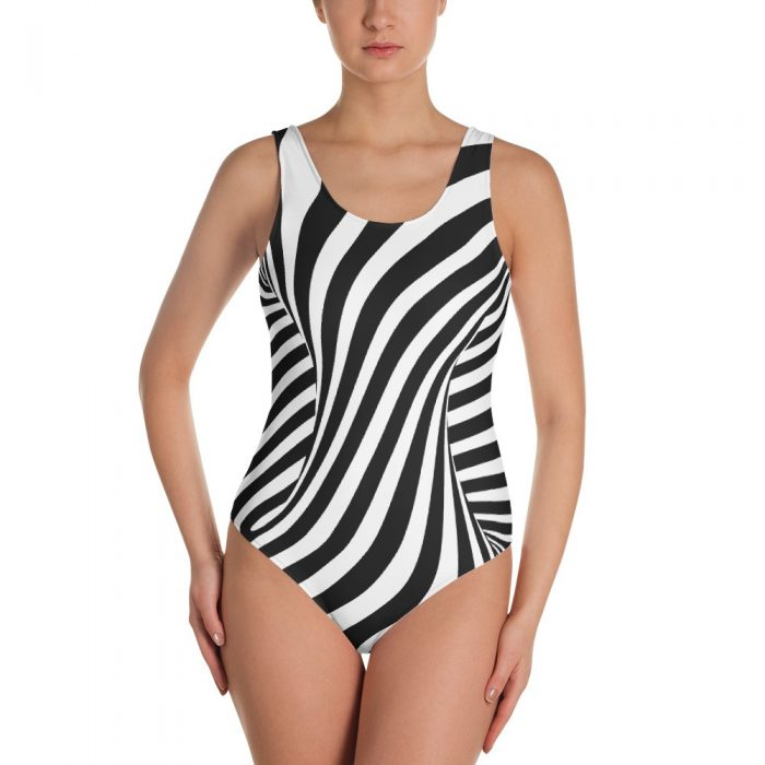 Optical Illusion One-Piece Swimsuit