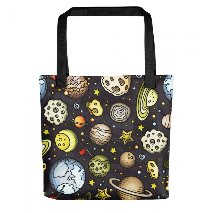 Planets Pattern Tote bag