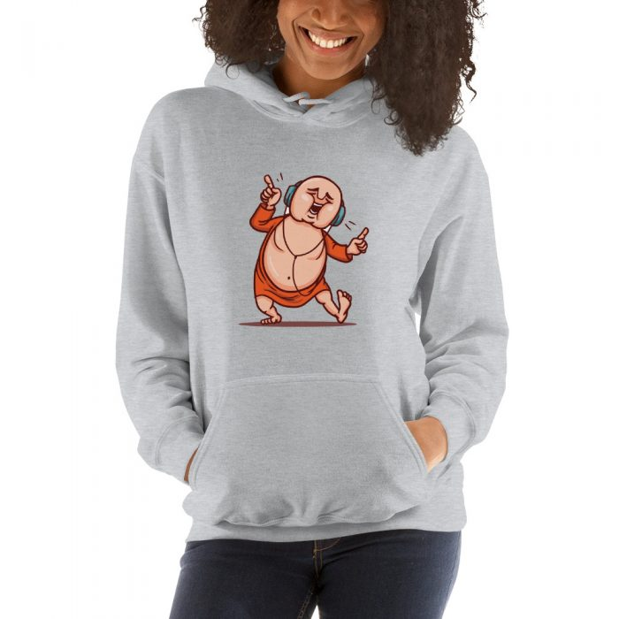 Dancing Monk Hooded Sweatshirt